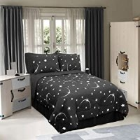 Amazon.com - STELLAR - MOON AND STAR SHEET SET FULL BLACK ...