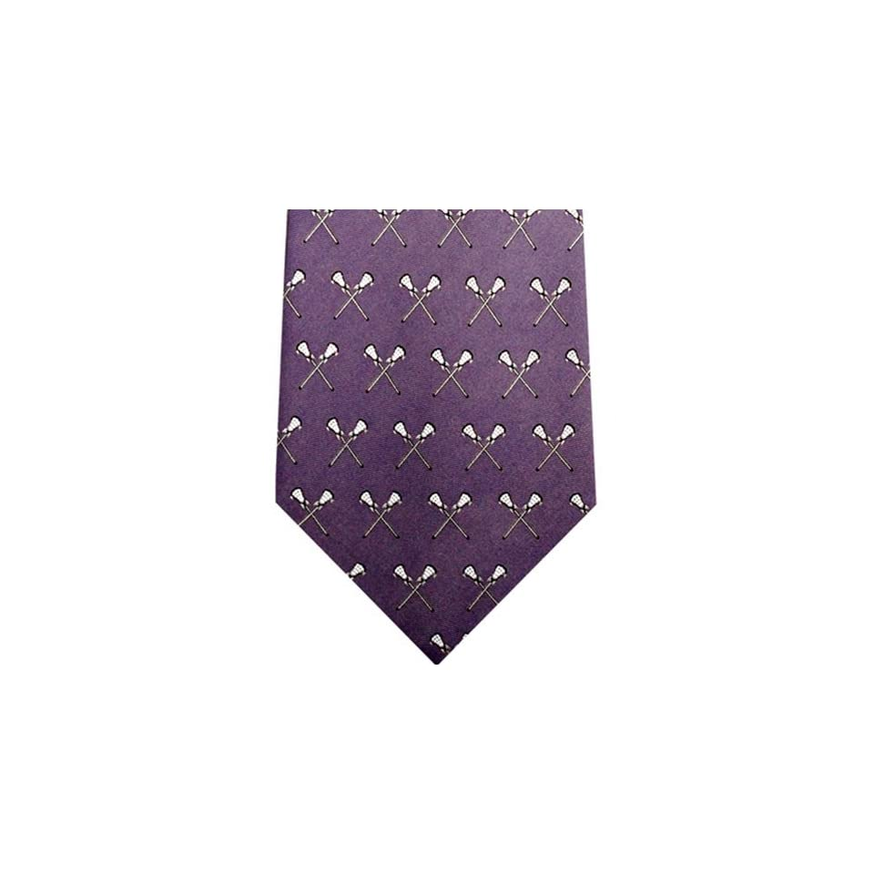 Laptop Kniekissen Chalk Talk Sports Crossed Lacrosse Sticks Purple Lacrosse Tie On