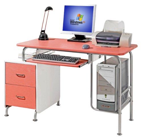 Picture of Comfortable Deluxe Ergonomic Girls's Cosmo Pink Computer Desk (B002EN9CUU) (Computer Desks)
