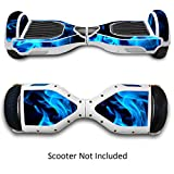 Self-Balancing Scooter Skin Hover Elettrico Skate Board Etichetta E-Scooters Skateboard Case Pelle Elettrico 2 Ruote Self Balance Scooter Accessori Decalcomania - Blue Fire da GameXcel ®