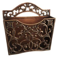 "Amazon.com - 13"" Regal Scroll Decorative Cast-Iron Wall ..."