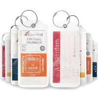 Cruise Luggage Tags Holder for Suitcases 8 PK, Clear PVC