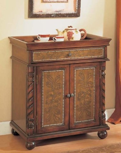 Image of Console Table Bombe Chest Brown Finish (VF_AM9164)