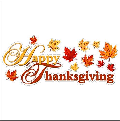 Thanksgiving Window Decorations