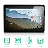NeuTab 7'' Quad Core Android 5.1 Lollipop 1GB RAM 8GB Nand Flash Tablet PC,, Wide View IPS Display 1024x600 Bluetooth Dual Camera, 1 year warranty FCC Certified (Black)