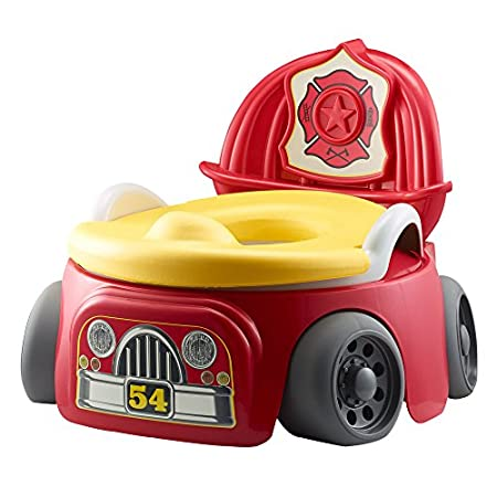 "Potty training doesn't need to be a three-alarm fire! Make it fun with the Hero in Training Potty System, offering fire truck appeal for your little hero and lots of ""hot"" features for you. The system starts as a standalone potty with a soft foam rin..."