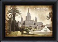 Amazon.com: LDS (Mormon) 15 x 20 Framed Vintage Oakland ...