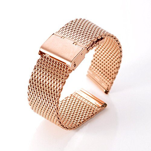 DHMXDC-22mm-Silver-Mesh-Specially-Designed-Stainless-Steel-Strap-Watchband-for-Motorola-Moto-360-Smartwatch-and-Lg-G-Watch-W100-W110-Urbane-W150-MESH-Rose-Gold