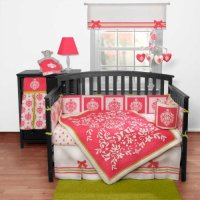 Damask Crib Bedding