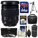 Fujifilm-16-55mm-f28-XF-R-LM-WR-Zoom-Lens-with-64GB-Card-Case-Pouch-Tripod-3-Filters-Kit-for-X-A2-X-E2-X-E2s-X-M1-X-T1-X-T10-X-Pro2-Cameras