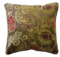 Amazon.com - 24x24 Burgundy and Pink Floral Brocade ...