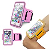 iPhone6 Plus Sports Armband, Nancy's shop Easy Fitting Sports Universal Armband With Build In Screen Protect Case Cover Running band Stylish Reflective Walking Exercise Mount Sports Sports Rain-proof Universal Armband Case+ Key Holder Slot for Iphone 6 Plus (5.5 Inch) (Pink)