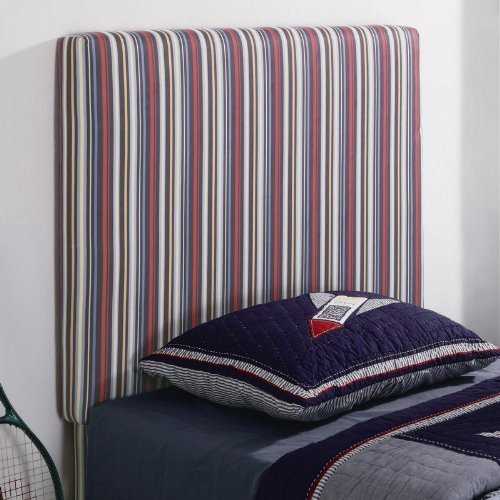 Image of Twin Size Kid Headboard with Striped Fabric in Multi Finish (VF_460300)