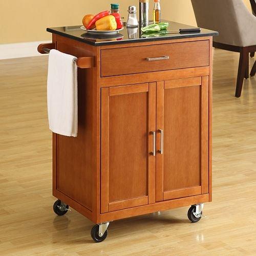 Buy Low Price Linon Granite Top Kitchen Cart 46460walgt 01 Kd U Kitchen Furniture Bargain