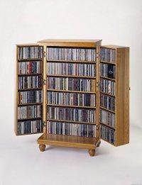 Leslie Dame Solid Oak Mission Style Multimedia Storage ...
