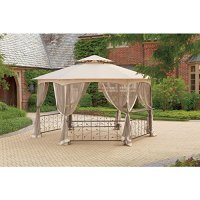 Living Accents Gazebo Black - Gazebos - Patio and Furniture