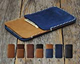 Samsung Galaxy Cover Wallet Bovine Leather Case Sleeve Pouch Shell Monogram your Name, Personalized Gift