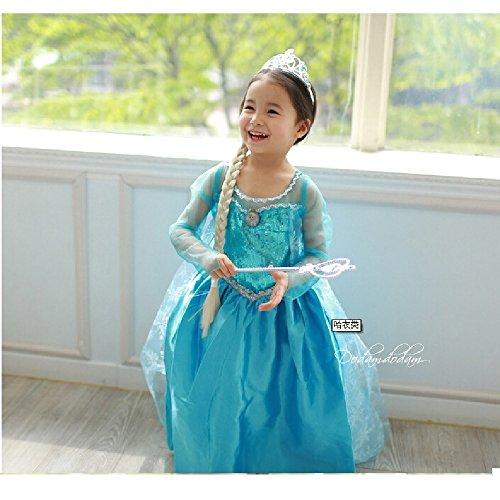 【コスプレ】【Vogue】 アナと雪の女王 Frozen Elsa プリンセスドレス 子供用 (110cm)