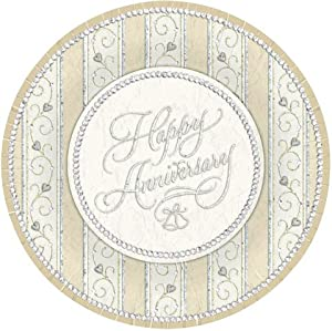Amazoncom Dazzling Anniversary 7quot Paper Plates 25th Or