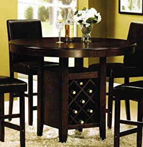 Amazoncom Counter Height Dining Table With Wine Rack
