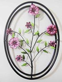 Wall Art - Metal Wall Art - Lilac Purple Flowers In 3D ...