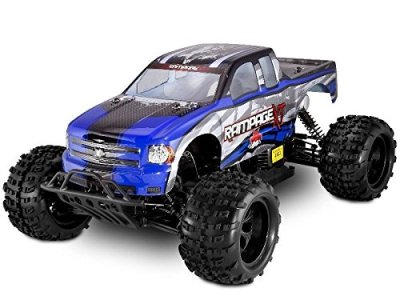 NEW-Racing-Rampage-XT-RC-Truck-15-Scale-Gas-24GHz-Remote-Control-Blue-Body