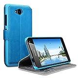 Lumia 650 Cover, Terrapin Cover di Pelle con Funzione di Appoggio Posteriore per Microsoft Lumia 650 Custodia Pelle, Colore: Leggera Blu