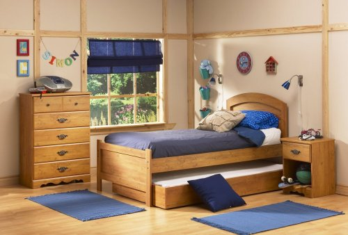 Image of Kids Bedroom Furniture Set in Country Pine - South Shore Furniture - 3232-BSET-2 (3232-BSET-2)