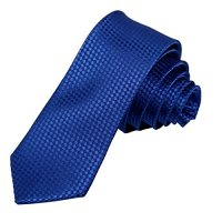 Blue skinny tie knot Fantastic Checkered Slim necktie ...