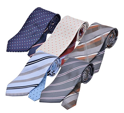 (メンズ ウーノ)men's uno 洗濯ネット付き 洗えるネクタイ スプリング 5本セット クレリックタイプ 1週間コーディネイト 撥水加工