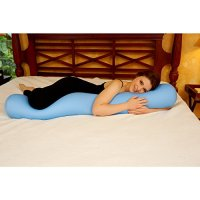 Microbead Body Pillow - Navy Blue * Zippered Removable ...
