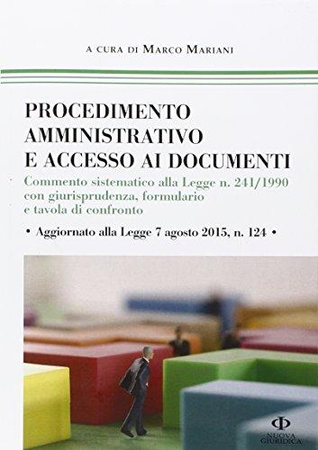 Procedimento amministrativo e accesso ai documenti
