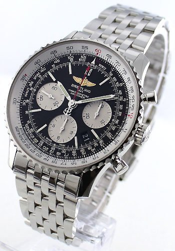 [ブライトリング]BREITLING 腕時計 ナビタイマー 01 クロノメーター クロノグラフ ブラック&シルバー メンズ A022B01NP [並行輸入品]