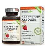 NatureWise Himbeerketon, Raspberry Ketone Plus+, Antioxidant Dual Action Formel, 2 -4 Monate Vorrat, 120 Kapseln