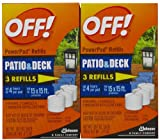 OFF! Lamp / Lantern PowerPad Refill 3 Units (2 Pack) 0.171 oz per pack