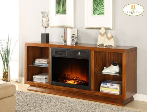 Image of Crystal Fireplace TV Stand By Homelegance Furniture (8104-F102)