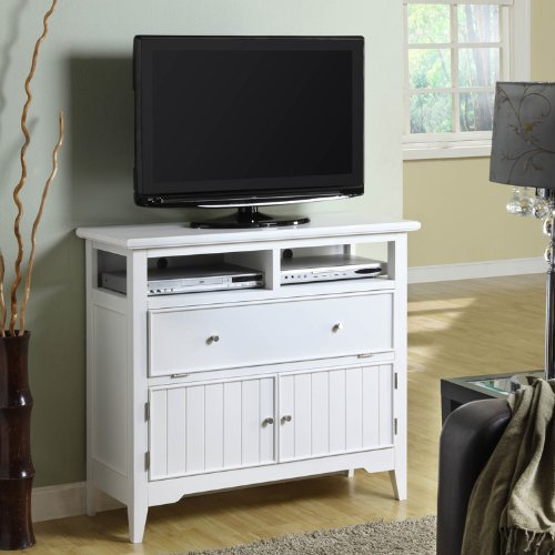 Image of Powell White Cottage TV Stand (929-781)