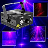 Sumger 3 Lens 18 Patterns Club Bar Rb Laser Blue LED Stage Lighting Dj Home Party 300mw Show Professional Projector Light