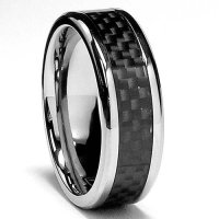 Wedding Rings Stores: 7 MM Titanium Ring Wedding Band with ...
