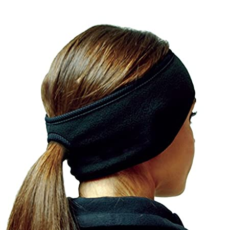 PolarEx Essentials Fleece Apparel Ponytail Ear Warmers by Hot Headz are specially designed for warmth, comfort and function and has a hole to put your ponytail through.