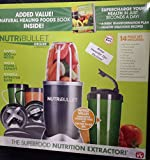 Nutri Bullet 15 Piece Blender - With The Green Smoothie Bible Book (300 Delicious Recipes), And Smoothie Making Tips. Also Includes The Nutribullet Natural Healing Foods Book (Supercharge Your Health in Just Seconds a Day) & Bonus Flip Top To-Go Oversize Mug, Hi Speed Blender / Mixer System