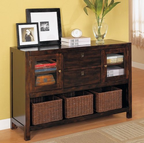 Beautiful Storage Console Sofa Table W Baskets New Best