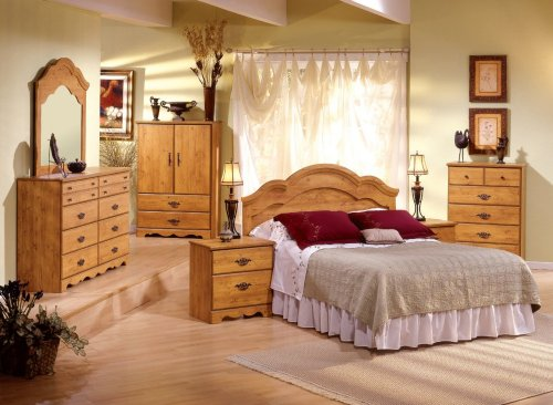 Image of Kids Bedroom Furniture Set in Country Pine - South Shore Furniture - 3232-BSET-1 (3232-BSET-1)