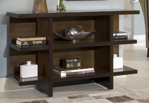Image of Console Table with Shelves in Two Tone Finish (VF_HY-5539-22)