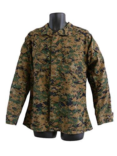 アメリカ軍 USMC BDUジャケット マーパットWD (M ※表記Sレギュラー)