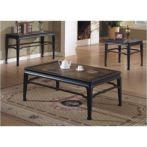 Image of BEAUTIFUL NEW BLACK CONSOLE SOFA TABLE (VF_F6157)