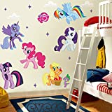 Zooyoo Cartoon Movie Apple Jack Fluttershy Pinkie Pie Removable Vinyl Mural Art Wall Sticker Decal