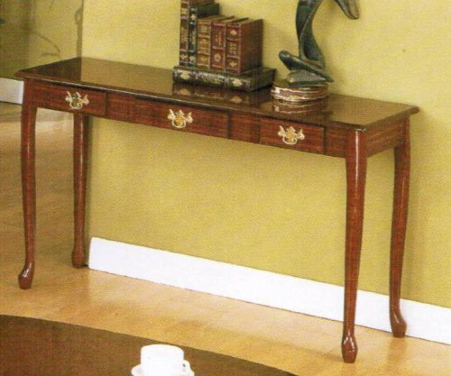Image of Console Sofa Table with Storage Drawers - Cherry finish (VF_F3061)