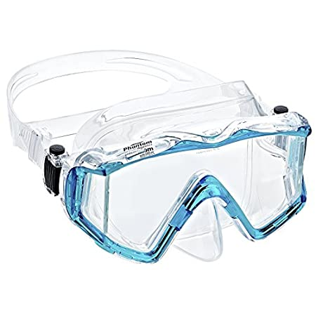Phantom Aquatic's Panoramic 3-window Mask Patented Tri-Window Design has Seamless Side Windows for an Unobstructed View. With its Revolutionary Push-Button Buckle for Easy and Quick Strap Adjustments, with Foldable and Flexible Buckle Attachment that...