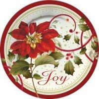 Poinsettia Paper Plates | Christmas Wikii
